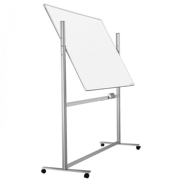 Whiteboard pe stand mobil Ferroscript rotativ 360 gr Magnetoplan