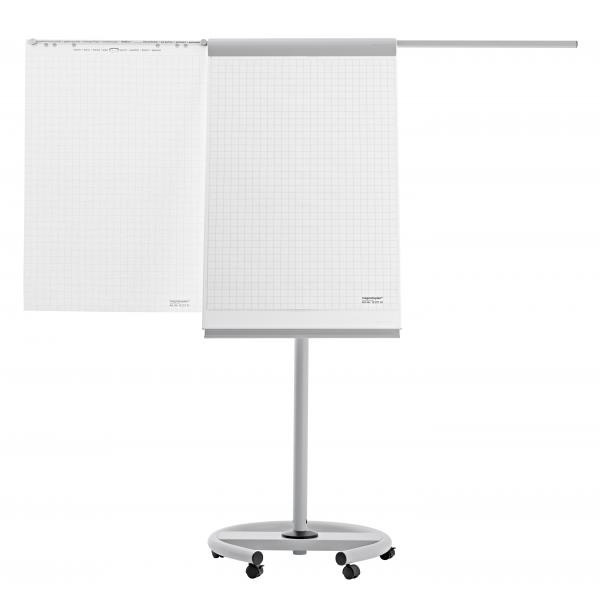 Flipchart Mobil DeLuxe, 2 brate laterale Magnetoplan