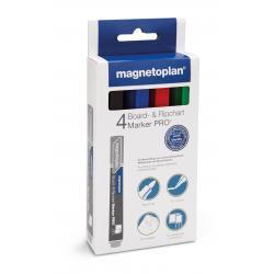 Set Marker Whiteboard 4 culori Magnetoplan