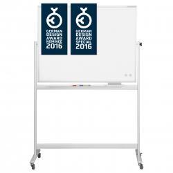 Whiteboard pe stand mobil, CC rotativ 360 gr Magnetoplan